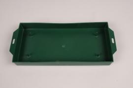 A149T7 Pack of 12 rectangular green bowls