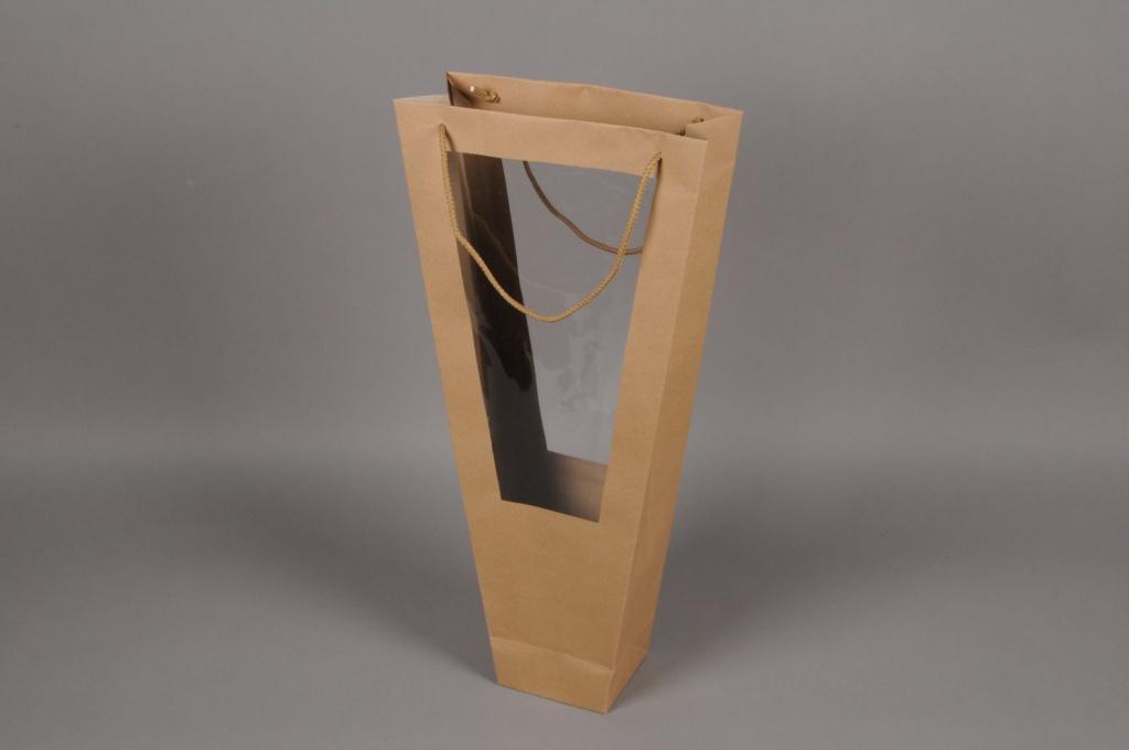 A150MO Paquet de 10 sacs en kraft naturel H60cm