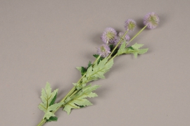 a150nn Echinops violet artificiel H70cm