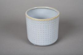 A150VU Cache-pot en céramique bleu D12cm H11cm