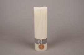 A151HH Bougie électrique LED ivoire D9cm H30cm