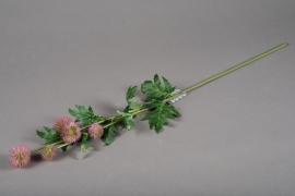 a151nn Echinops rose artificiel H70cm