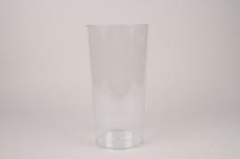 A151T7 Vase en plexi transparent D18CM H35.5cm