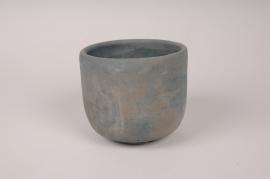A151TN Cache-pot en béton gris D14cm H11cm