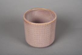 A151VU Cache-pot en céramique rose D12cm H11cm