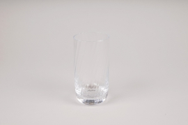 A151W3 Vase verre cylindre D7cm H13cm