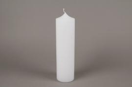 A152E2 Bougie cylindre blanc D8cm H30cm