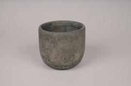 A152TN Cache-pot en béton gris D14cm H13cm