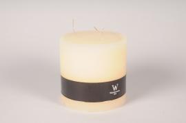 A153E2 Bougie cylindrique ivoire D15cm H15cm