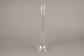 A153I0 Glass thin church vase D6cm H40cm
