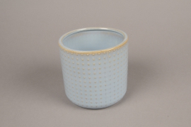 A153VU Blue ceramic planter pot D13.5cm H13cm