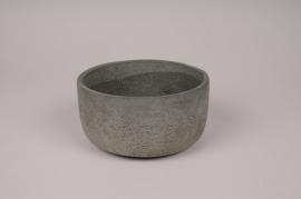 A154TN Grey concrete pot D16cm H8.5cm