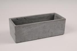 A155TN Jardinière en béton gris 10cm x 23.5cm H8cm