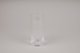 A155W3 Vase verre cylindre D6.5cm H15cm
