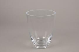 A156I0 Vase en verre épais évasé D14.5cm H20cm