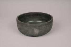 A157TN Grey concrete pot D21.5cm H8.5cm