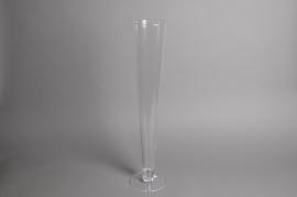A158I0 Vase glass flute D25cm H100cm