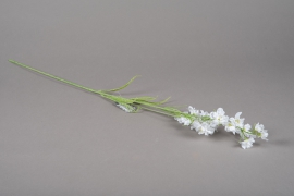 a159nn Delphinium artificiel blanc H75cm