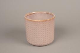A159VU Cache-pot en céramique rose D16cm H15cm