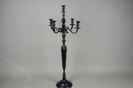 A161HH Black metal candelabrum 5 branchs H105cm