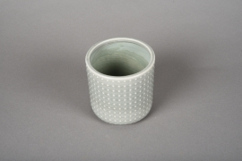 A161VU Green ceramic planter pot D10cm H10cm