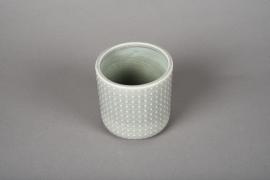 A161VU Cache-pot en céramique vert D10cm H10cm