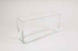 A162I0 Jardinière en verre 30cm x 8.5cm H15cm