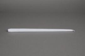A162IR Boîte de 10 bougies flambeau blanc 40cm