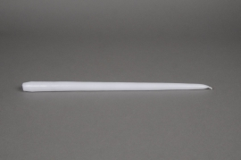 A162IR Box of 10 torch candles white 40cm