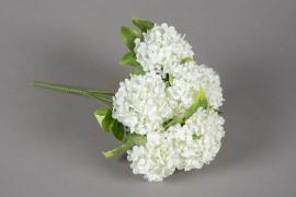 a162nn Piquet de viburnum artificielle blanc H30cm