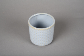A162VU Blue ceramic planter pot D10cm H10cm