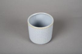 A162VU Cache-pot en céramique bleu D10cm H10cm