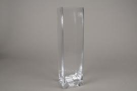 A163I0 Square glass vase  8.5cm x 8.5cm H40cm