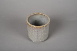 A163VU Cache-pot en céramique gris D10cm H10cm