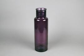 A164HH Vase en verre violet D14.5cm H45cm