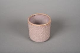 A164VU Pink ceramic planter pot D10cm H10cm