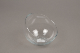 A165I0 Glass ball vase D12cm H9.5cm