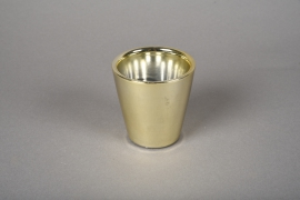 A165VU Ceramic planter gold D7cm H7cm