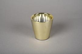 A165VU Ceramic planter gold D7cm H7cm