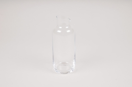A165W3 Bottle glass vase D6cm H16cm