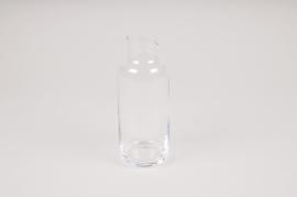 A165W3 Vase bouteille en verre D6cm H16cm