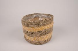 A166T3 Cache-pot en tissu D19.5cm H15cm