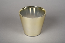 A166VU Ceramic planter gold D11.5cm H10cm