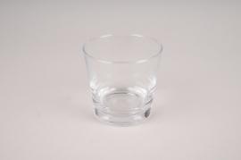 A166W3 Vase en verre conique D9cm H9cm
