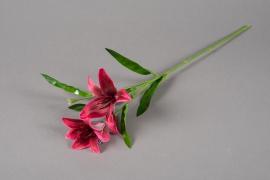 a167nn Artificial pink lily H52cm