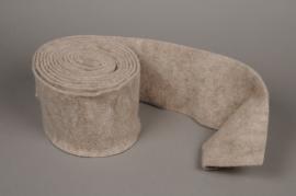A167VQ Grey wool roll 15cm x 5m