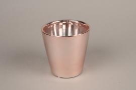 A167VU Cache-pot en céramique cuivre D13.5cm H13.5cm