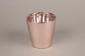 A167VU Copper ceramic planter D13.5cm H13.5cm