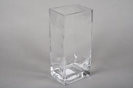 A168I0 Vase en verre haut 10x8cm H22cm