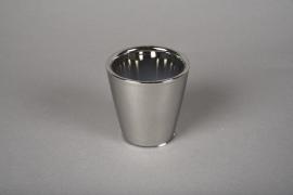 A168VU Cache-pot en céramique argent D7cm H7cm
